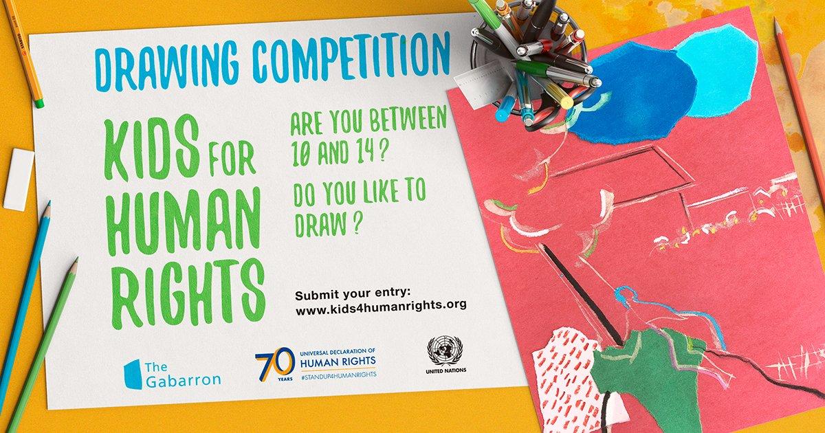 Natečaj OZN za otroške slike in risbe z naslovom Otroci za človekove pravice