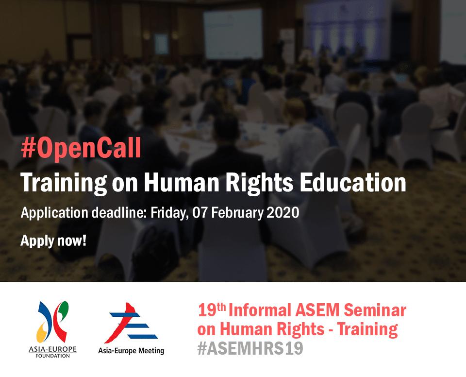 ASEF išče organizacijo za izvajanje usposabljanja na temo učenja človekovih pravic