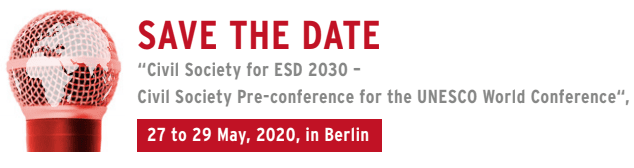 Civil Society for ESD 2030 – Civil Society Pre-conference for the UNESCO World Conference