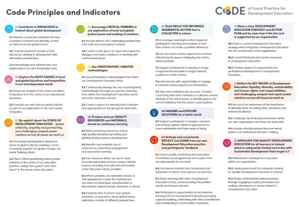 Kodeks dobre prakse za izobraževanje o razvoju