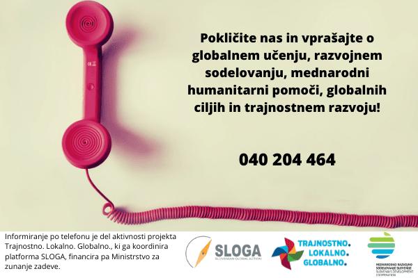 Pokličite nas na info telefon!