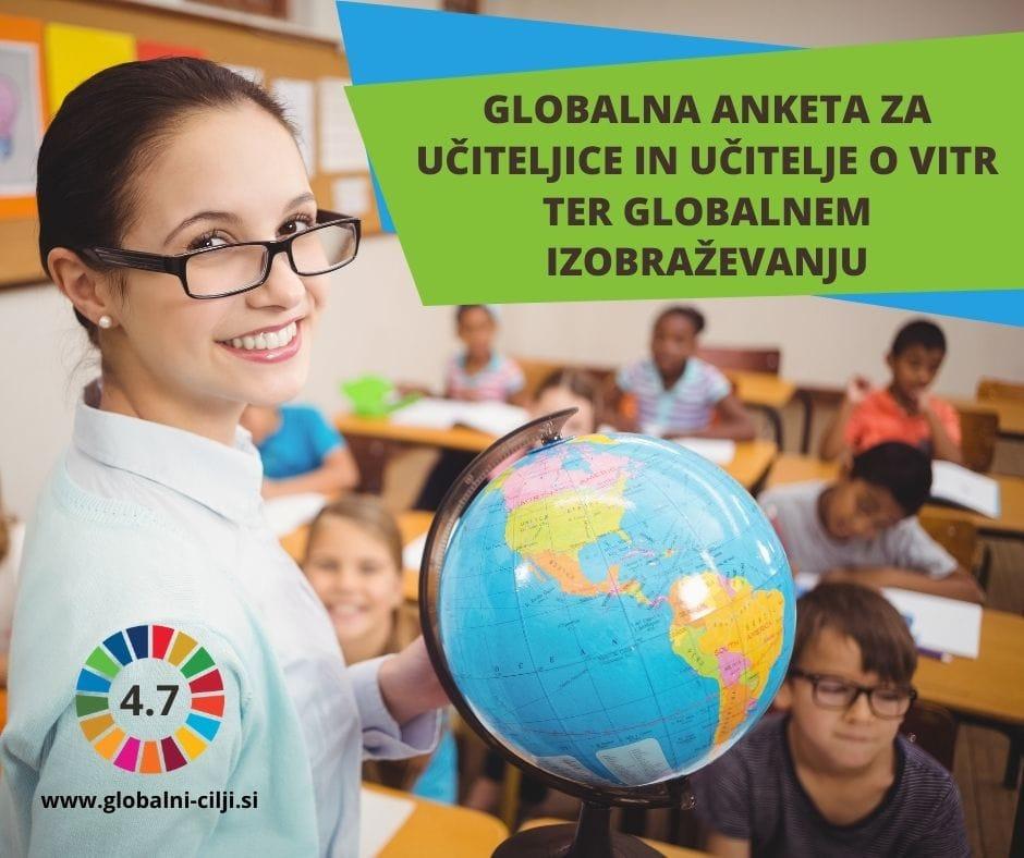 Globalna raziskava za učitelje o izobraževanju za trajnostni razvoj in izobraževanju o globalnem državljanstvu