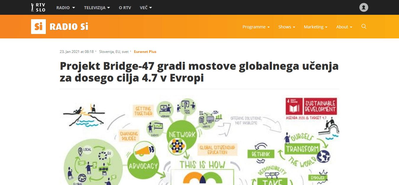 globalno učenje SLOGA Bridge 47 transformative education Global Citizenship Education