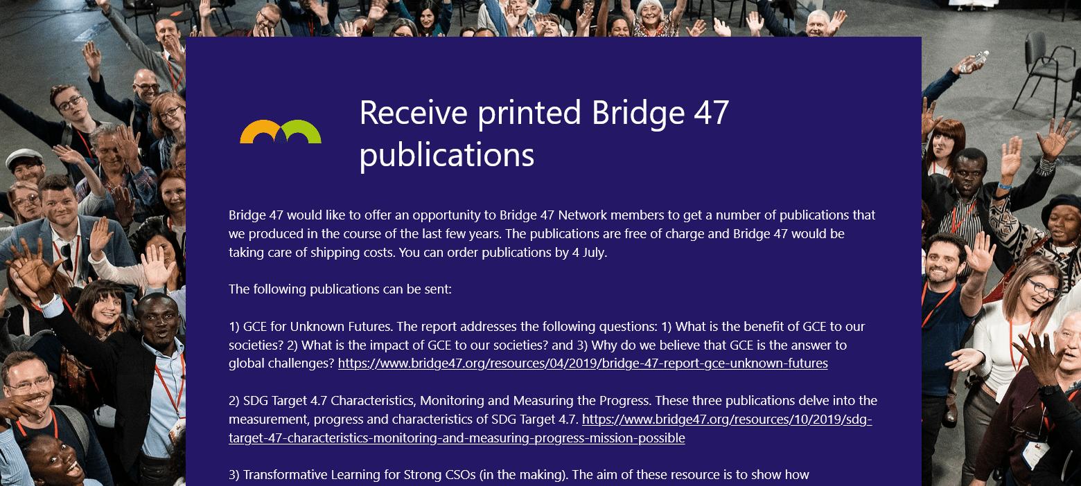 Na voljo brezplačni tiskani izvodi publikacij o transformativnem učenju